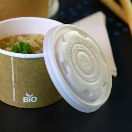 BIO lid for cardboard BIO soup cups 250ml
