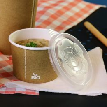 Couvercle pour gobelet à soupe en carton 250ml