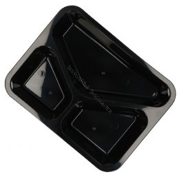 Meal tray 3 compartments MW30/45 black
