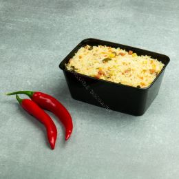 Microwave container - 1000ml - 175 series black