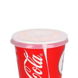 Lid PS 90mm with X-slot for milkshake or cola cup
