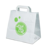Carrier bags snack bag block bottom 26+17x26cm Eat Me