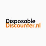 Paper carrier bag for hot sweet snacks with  'oliebollen' design medium 26+17x26cm