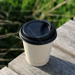 BIO Lid for Coffee To Go Cups 80mm 180ml 240ml black