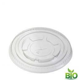 BIO Flat lid for Bio smoothie cup, with X-slot 95mm