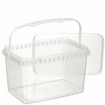 Sealable TE cup rectangular 2000ml + lid