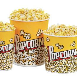 Popcorn containers (bucket) small 720ml AVAILABLE FROM MARCH 1ST
