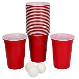 Beer Pong Pack gobelets rouges américains 475ml