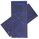 Pochette pour couverts bleu foncé avec serviette bleu foncé