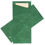 Pochette pour couverts vert foncé avec serviette Champagne