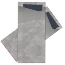 Cutlery bags Grey with Black napkin