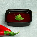Sauce and salad container rectangular 108mm 125cc black