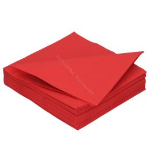 Serviette en papier DiDi 40cm rouge  2 couches