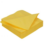Serviette en papier DiDi 40cm jaune 2 couches