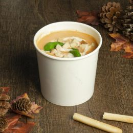 Gobelet soupe à emporter 750ml 26oz blanc