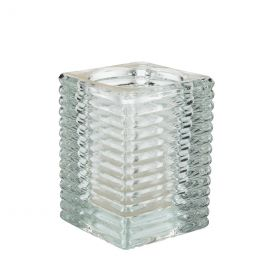 Q-lights square ribbed glass clear