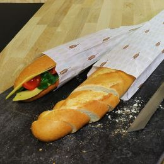 Paper baguette bag 90+40x660mm Ceres