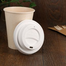 BIO Bagasse lid for Coffee To Go 90mm