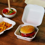 Bio Boîte à Hamburger en canne à sucre Blanc