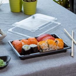 Sushi Tray + lid 185x129mm