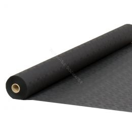 Damask paper table roll black 1.20x50m