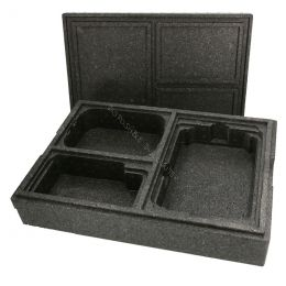 Thermo box for ready meals - 3 compartments