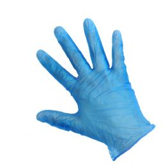 Vinyl gloves powdered blue S