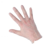 Powdered gloves vinyl white S