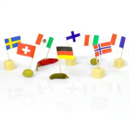 Cocktail stick with International flags