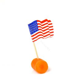 Cocktail stick with USA flag