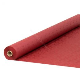 Damask paper table roll warm red 1.20x50m