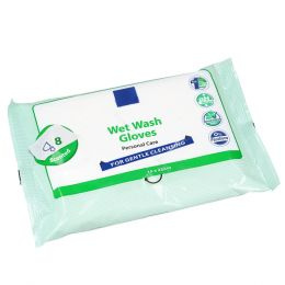 Wet Wash Gloves Personal Care 15x22cm with Perfume
