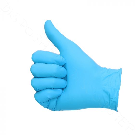 Handschuhe Nitril ungepudert blau L