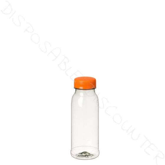 Bottle PET clear 250cc with orange cap