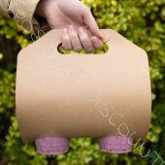 Bio Porte gobelets pour 2 gobelets en carton Kraft Naturel