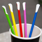 BIO Löffelstrohhalme aus Papier 8mm x 240mm Bright Colours