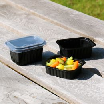 Side Dish Schale 470ml 138x114x53mm schwarz