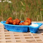 Backfisch-Schale / C-Foodtray PS 71 blau