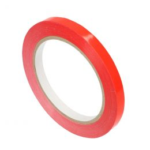 Klebeband 9mm für Beutelschließer Vinyl rot