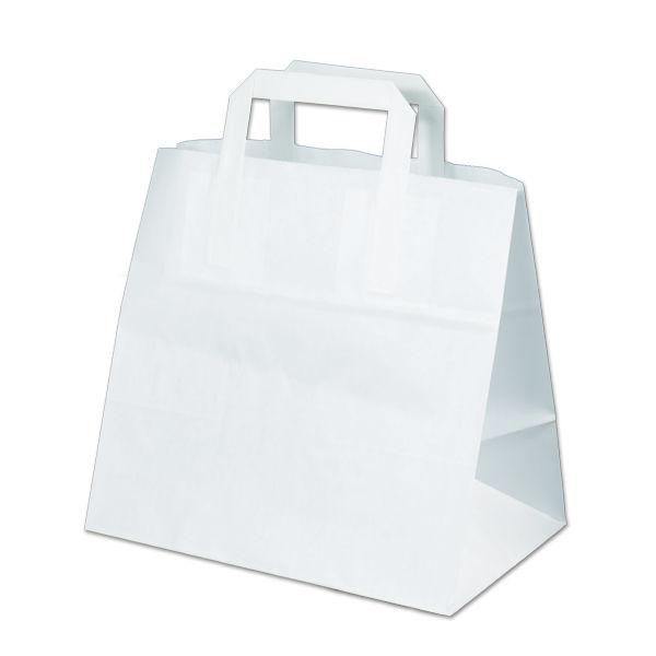 Image of Carrier bags snack bag block bottom 26+17x26cm white