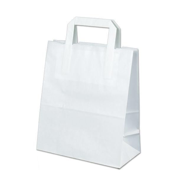 Image of Carrier bags snack bag block bottom 22+11x27cm white