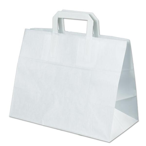 Image of Carrier bags snack bag block bottom 32+18x26cm white