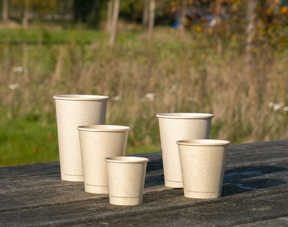 New: Sugarcane bio cups. A wood-free alternative!