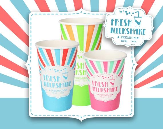 Retro Milkshake Cups