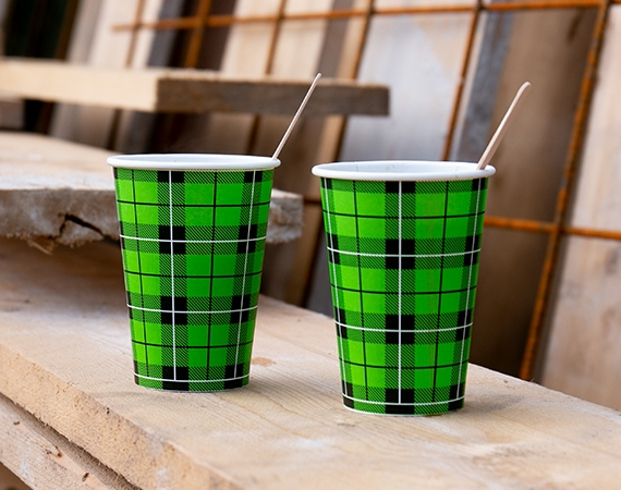 New! BIO Scotty Tartan Coffee Paper Cups