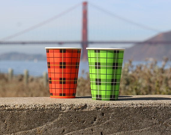 Our beautiful paper cups are delivered worldwide!