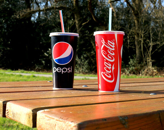 Coca Cola and Pepsi cups