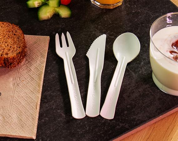 New: Cardboard cutlery! 100% biodegradable!