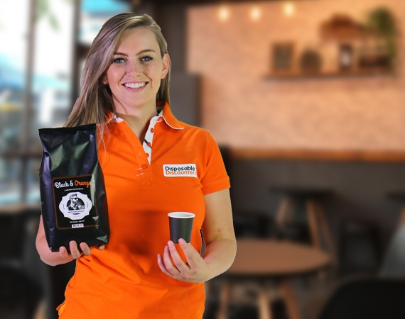 New! Our delicious Black & Orange Coffee beans!